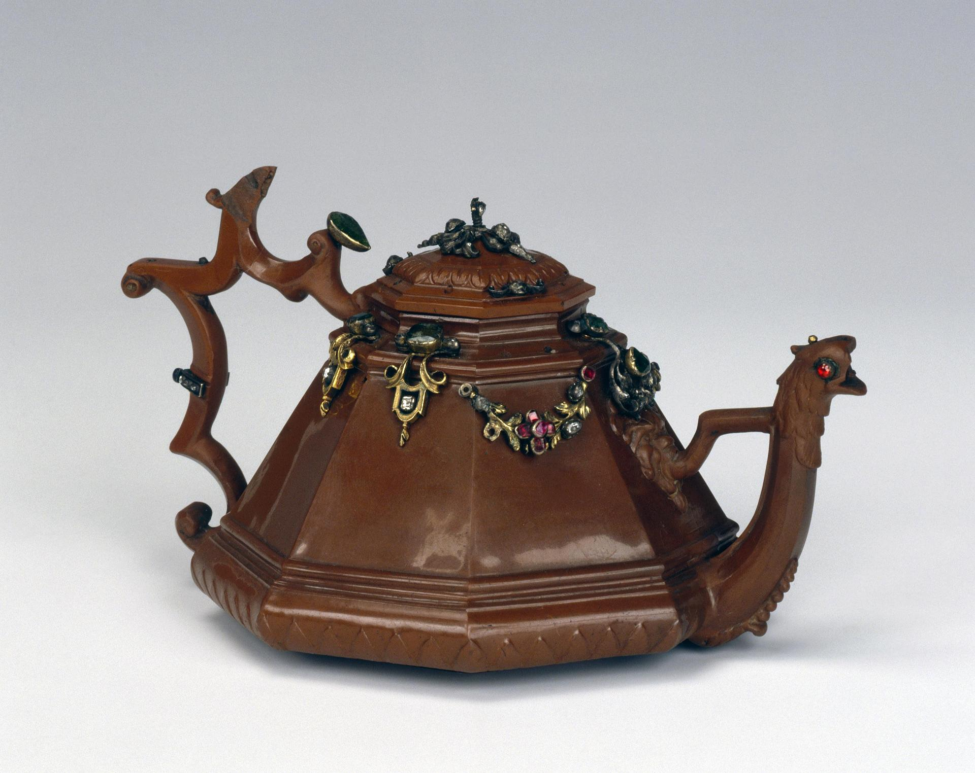 Teapot with lid, Germany, Meissen, 1711-1715, stone mass
