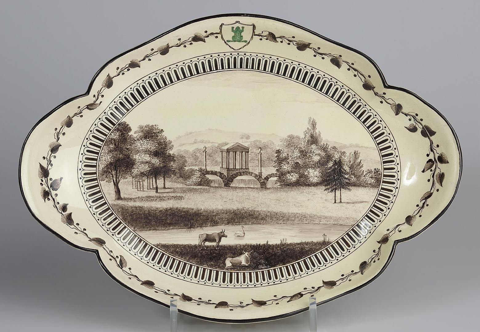 Oval dish, United Kingdom, earthenware