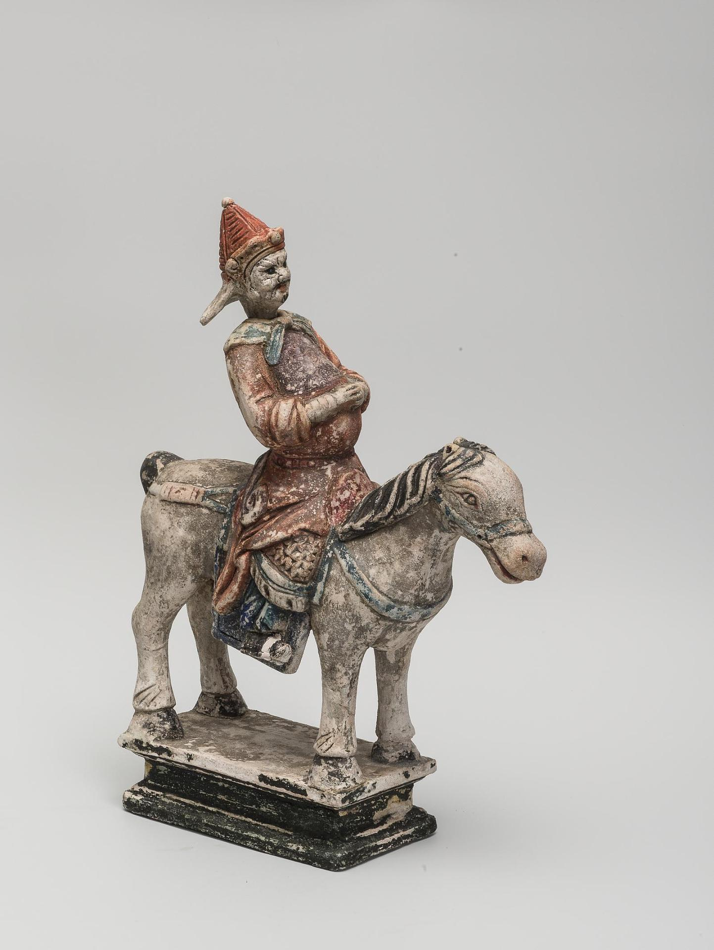 The figure of a warrior, China, the 16th century, clay, polychrome painting